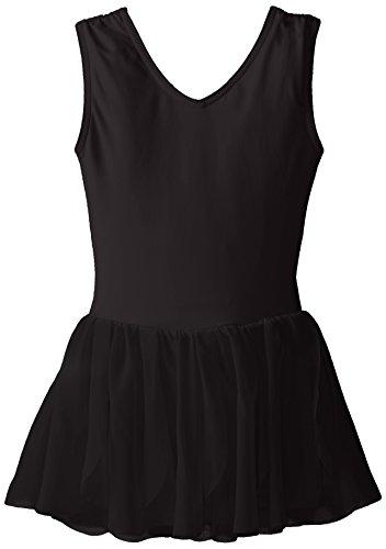 Capezio Girls' Little (2-6X) Petal Dress, Black Intermediate ()