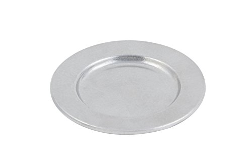 Bon Chef 1041PG Aluminum/Pewter Glo Contemporary Bread and Butter Plate, 6