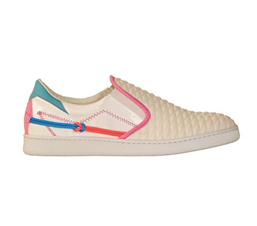 Shoes L4K3 LAKE Woman SLIP ON Scuba WHITE