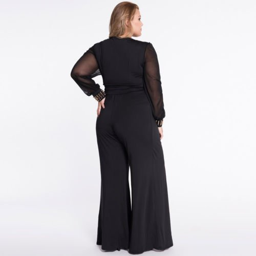 69ce50e3d45b YINUOWEI Sexy Women Plus Size Jumpsuit Romper Long Sleeves Club Pants Dress   Amazon.ca  Clothing   Accessories