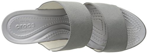 Crocs Leigh II 2 Strap Wedge Silver/Graphite LVsGusepKT