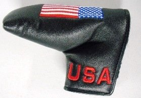 USA Flag Embroidered Blade Putter Golf Headcover