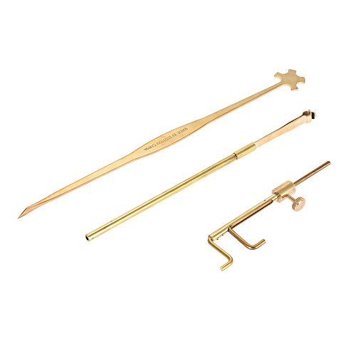 ammoon Violin Luthier Tools Kit Set Sound Post Gauge Measurer & Retriever Clip & Setter Brass