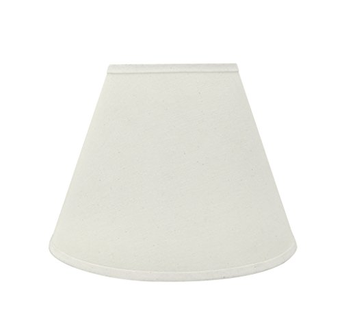 """Aspen Creative 32197 Transitional Hardback Empire Shaped Spider Construction Lamp Shade in Off White, 12"""" Wide (6"""" x 12"""" x 9"""")"""