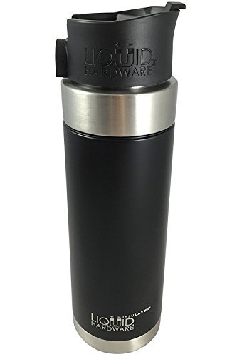 - Liquid Hardware Aurora: Travel Coffee Mug Stainless Steel Double Wall Vacuum Insulated Leak Proof BPA Free with Magnetic Quick Stick Lid (Matte Black, 20 oz)