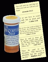 PreScriptures for Disipleship - Daily Bible Verses for Encouragement - Make Nice Handout - New Gift With Card Prescription