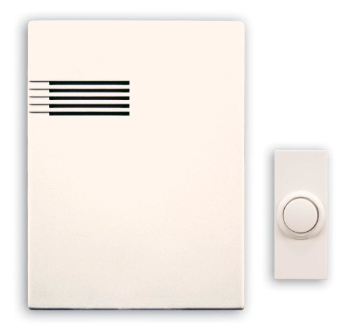 (Heath/Zenith SL-6164-B Wireless Battery-Operated Musical Door Chime Kit with 64 Tunes, White)
