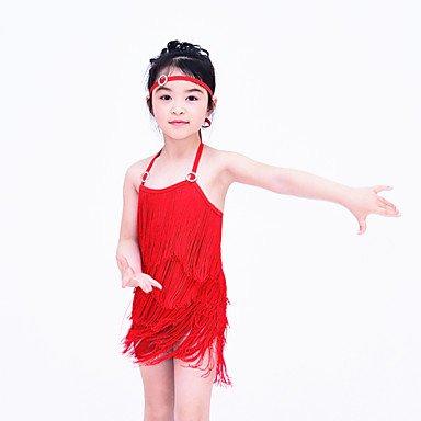 Latina de Accesorios de Noche Moderna como Licra la Desempeño la Vestidos Foto Jazz Cheerleader LA RED Ropa en Danza Vestidos Danza 0Oqwrv01