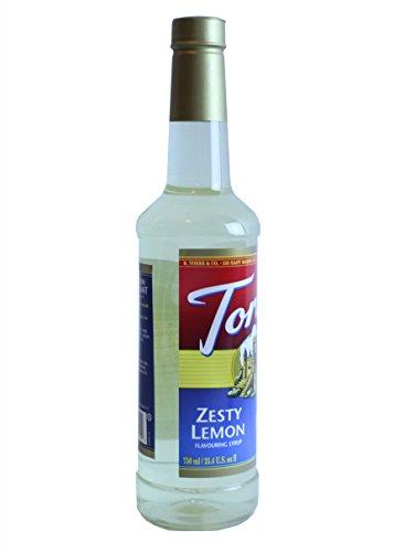 Torani 750mL 25.4 oz Zesty Lemon, Citron Piquant Flavoring Syrup, PET Bottle