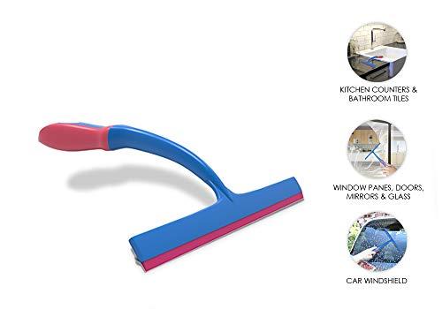 Chakaachak Single Stroke Wiper; All-Purpose Squeegee (Used for Cleaning Kitchen Platform/Bathroom Shower, Door, Glass, Window/Car Windshield/Mirror/Tiles)