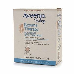 Aveeno bébé eczéma Thérapie Bain de traitement apaisant bébé, sans parfum, 5-comte paquets (pack de 6)