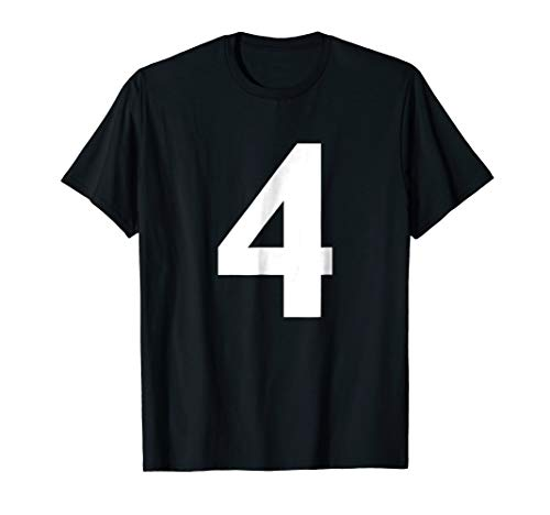 Numeral Number 4 Four Tee Shirt]()