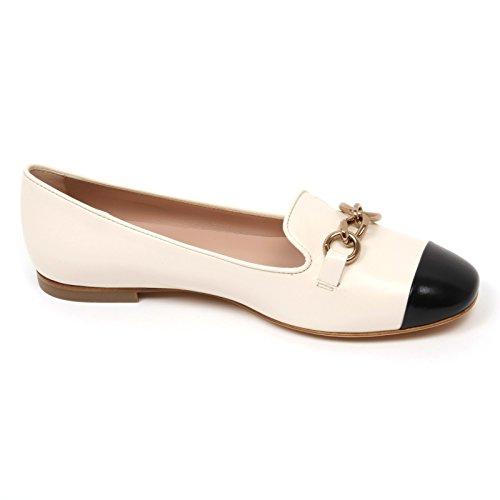 Donna Ballerina Shoe Black Avorio C9082 Nero Woman Ivory Tod's Scarpa OxFnwR