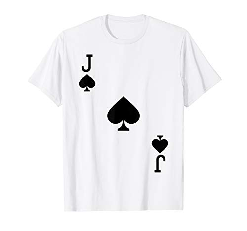 Jack of Spades Costume T-Shirt Halloween Deck of Cards ()