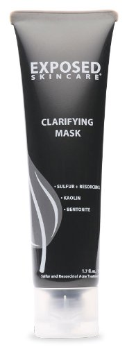 Acne Clarifying Charcoal Mask Treatment by Exposed Skin Care, Bentonite and Activated 1.7 ounces