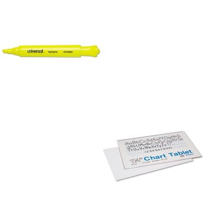 KITPAC74720UNV08861 - Value Kit - Pacon Chart Tablets w/Manuscript Cover (PAC74720) and Universal Desk Highlighter (UNV08861) (Chart Pac74720)