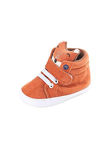 Naked Rubber Band - FORESTIME Baby Girl Boys Fox Hight Cut Shoes Sneaker Anti-Slip Cotton Soft Sole Toddler (6-12 Months)
