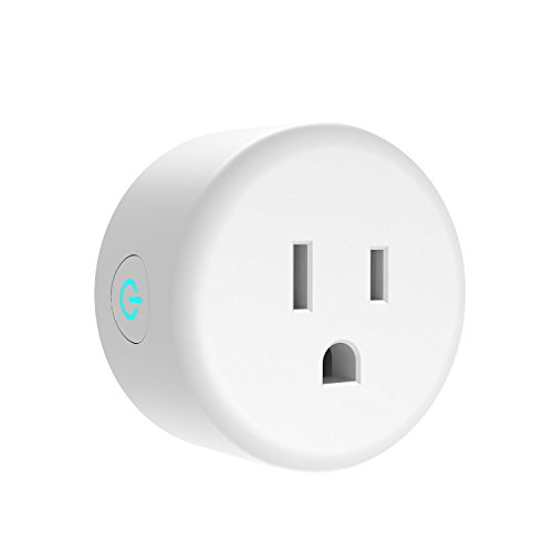 1 Pack WiFi Smart Plug,Mini Outlet Socket,Works with Amazon Alexa Echo and Google Assistant,No Hub Required,Remote Control by Smart Phone with Timing Function From Anywhere,White