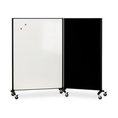 (Quartet : Motion Series Room Divider Partition, Fabric/Porcelain, 48w x 72h -:- Sold as 2 Packs of - 1 - / - Total of 2 Each)