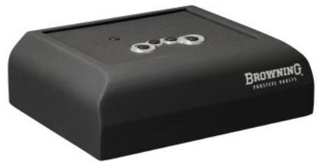 Browning PV500 Pistol Vault w/Biometric Keypad,Textured Black 1601100232 ()