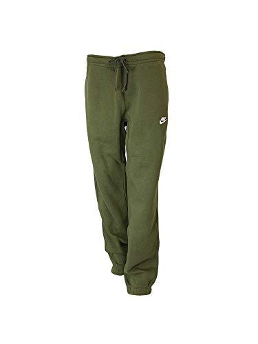 Nike Mens Sportswear Cuffed Fleece Sweatpants (S, Olive Canvas/White) ()