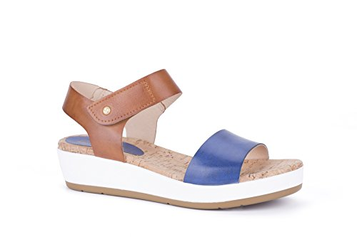 Pikolinos Mykonos W1g, Sandalia con Pulsera Para Mujer Blue