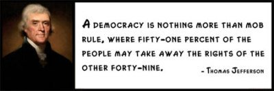 Wall Quote - Thomas Jefferson - A Democracy Is Nothing More Than ...