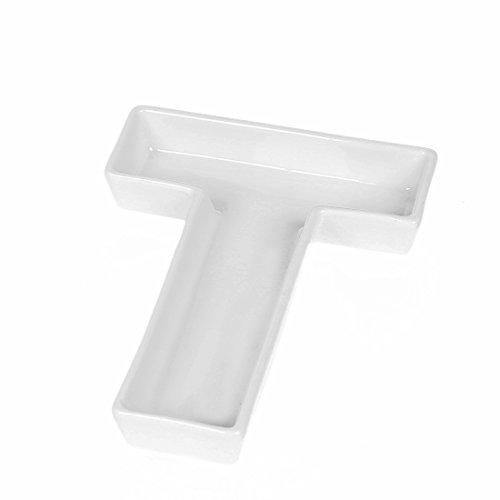 Porcelain Candy - Coffeezone Candy/Nuts Decoration Ideas, Porcelain Dishes in Letter Shape, Wedding Decoration (Letter T)