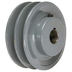 4.25'' X 1'' Double Groove AK Fixed Bore Pulley # 2AK44X1 by Leeson/AMEC