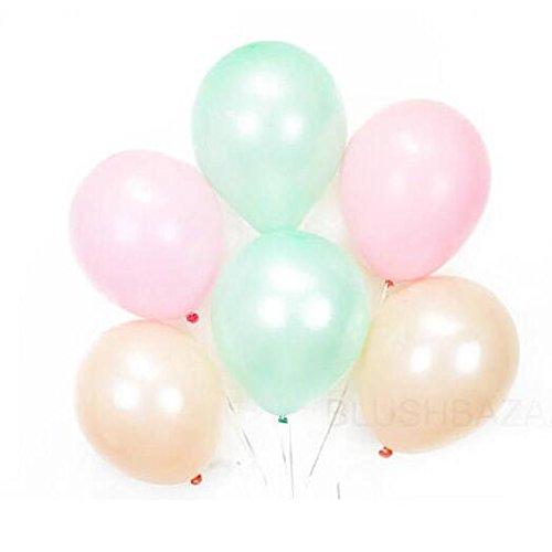 11' Latex Wedding Balloons - 11'' Mint Green, Pink and Peach Balloon Set of 30pcs - Mint Green Party Decor, Pink Balloon set, Peach Party Decor
