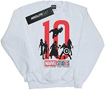 Marvel Studios Herren The First Ten Years Sweatshirt Weiß Small