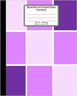 Quad Rule 5x5 Graph Paper Notebook 8 X 10 120 Pages Geometric