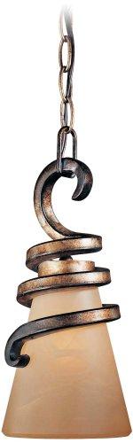 Tofino Collection 5 3/4″ Wide Art Glass Bronze Mini Pendant
