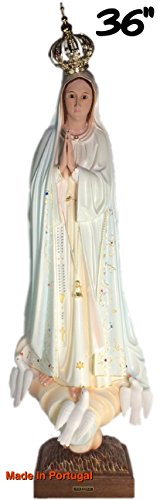 Virgin Mary Fatima - 36 Inch Our Lady Of Fatima Statue Religious Figurine Virgin Mary Made In Portugal