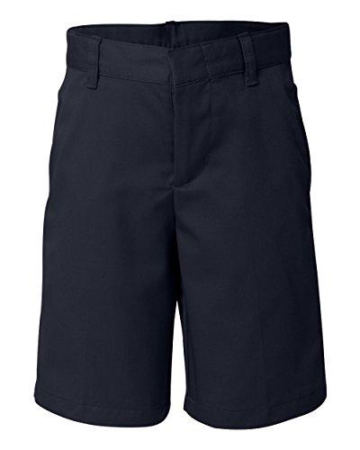 French Toast School Uniform Boys Flat Front Adjustable Waist Shorts, Navy, 10