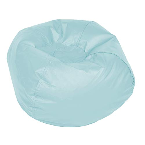 ACEssentials Vinil Bean Bag Chairs for Kids and Teens, Light Blue