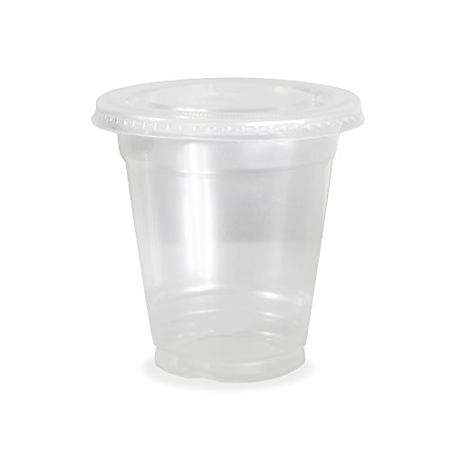 Plastic Cups With Lids : Disposable clear plastic cups for iced coffee bubble boba