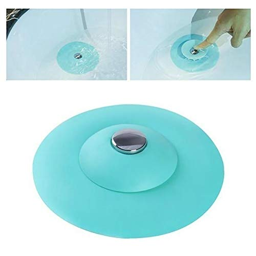 yanQxIzbiu Sink Kitchen Sink Strainer, Sewer Filter with Press Button Design Bathroom Wash Basin Floor Drain/Hair Stopper Strainer Green