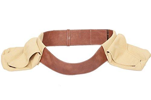 PLUSCRAFT Boba Fett Belt Durable Canvas Bags PU Adult Adjustable Cosplay Costume Prop (Fett Prop)