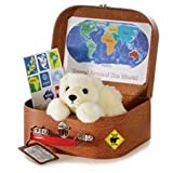 "Aurora Plush 8"" Travel Around the World Polar Bear"