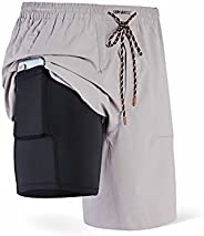 Separatec Men's 2 in 1 Dual Pouch Quick Dry Sports Shorts with Pockets 1