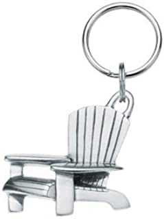 product image for Danforth - Adirondack Chair Pewter Keyring - 1 3/4 Inch - Handcrafted - USA