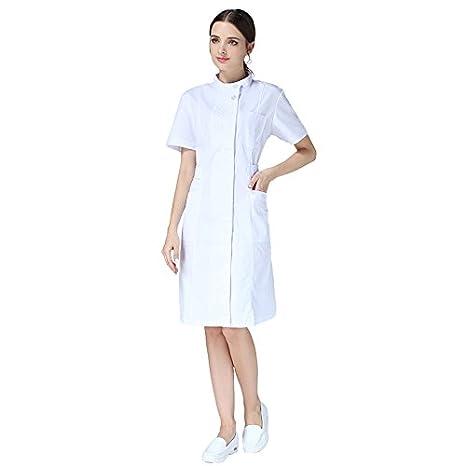 Xuanku Las Enfermeras Usar Mangas Largas, Batas Blancas, Gruesas Batas Blancas, Las Enfermeras Self-Cultivation, Farmacias, Médicos Y Enfermeras: Amazon.es: ...