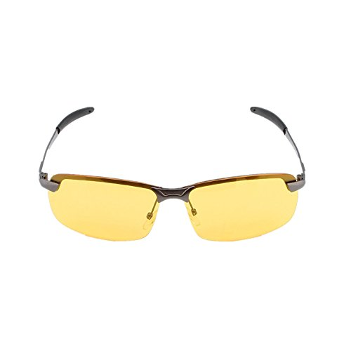Gray Tint Lenses - Night Driving Glasses, Anti Glare Fog Rain HD Vision Goggles Yellow Tint Polycarbonate Lens for Men and Women (gray frame)