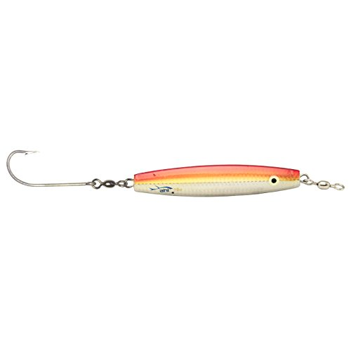 AHI USA Assault Diamond Jig with Glow Eyes and Single Hook, Baby Red, 2-Ounce