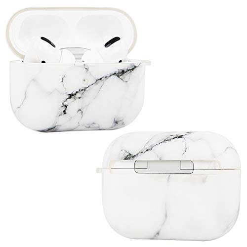 Imikoko Airpods Pro Case Marble Cover Airpod 3rd Gen [Front LED Visible & Supports Wireless Charging] TPU Silicone Skin…
