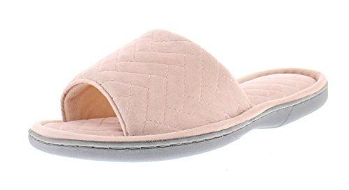 Toe Chevron Foam Slide Flop Gold Slipper Open Women's Memory Flip Light House Scuff On Adreanna Quilted Coral Toe vdxtnq0