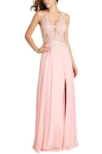 Wassermelon A Partykleider Abendkleider Promkleider Spitze Chiffon mia Lang La Rosa Linie Neckholder Braut 1yEwfpvq