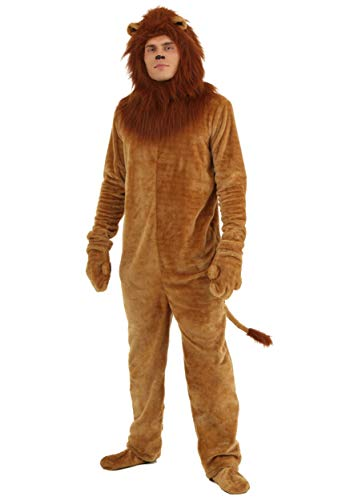 Fun Costumes Adult Deluxe Lion Costume Large Brown -