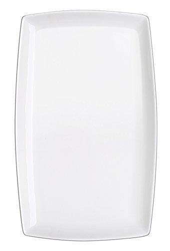 DOWAN 10-inch Porcelain Serving Platter/Rectangular Plates, Set of 4, White by DOWAN